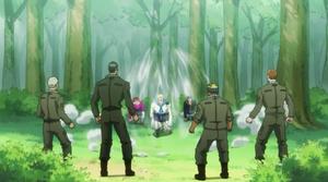 The Bombers appear before Tsezguerra's group