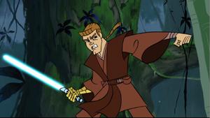 Anakin Skywalker slammed
