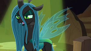 Queen Chrysalis approaches Tirek S9E8