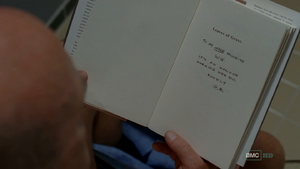 Hank finds Gale's message