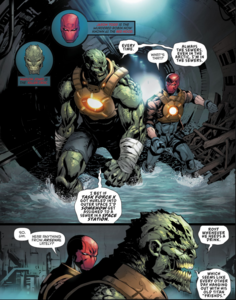 Killer Croc and Red Hood.
