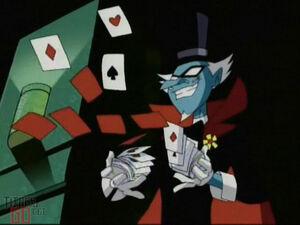 Mumbo Jumbo throwing his cards