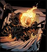 Jack O'Lantern (Crime-Master's) (Earth-616) and Elizabeth Brant (Earth-616) from Venom Vol 2 3 0001