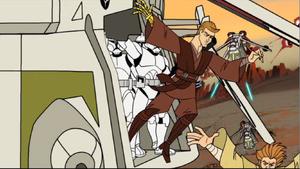 Anakin Skywalker gunship jump