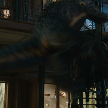 Indoraptor attacking Owen, Claire and Maisie on the Stairway.png