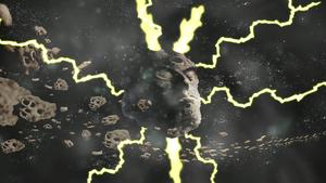 Asteroid strikes