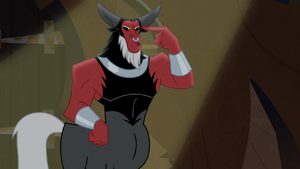 Lord Tirek pointing at his head S9E8