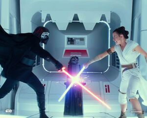 Rey and Kylo Force bond fight