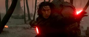 Kylo killing Sith cultists