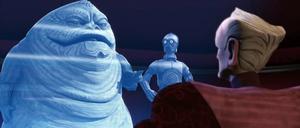 Palpatine Jabba scuffle