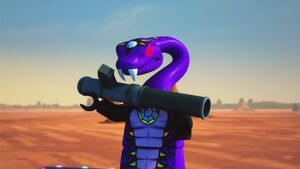 Pythor with a bazooka