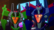Thundercracker and Acid Storm (Her circuits are on fire)