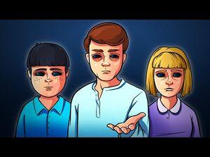 Black Eyed Kids Are Waiting at Your Doorstep (Horror Animation)