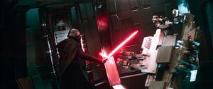 Kylo destroys the interrogation room