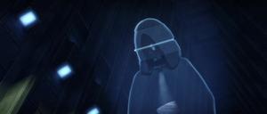 Sidious hologram caution