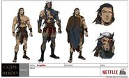 Blood of Zeus Seraphim concept art Sheet
