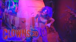 Clowns 3D (COLOR!!) at Halloween Horror Nights 2014 Universal Studios Hollywood