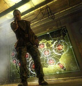 Dragovich pointing his gun