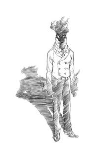 Volume 11 (Vigilantes) Kurogiri Sketch