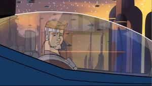 Anakin Skywalker departing