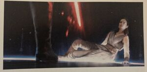 Kylo and Rey concept art