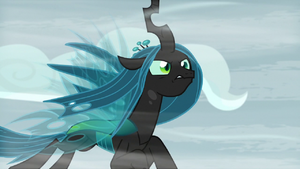 Chrysalis pushing through the gust S9E8