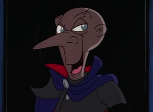 Snively in the end of the cartoon