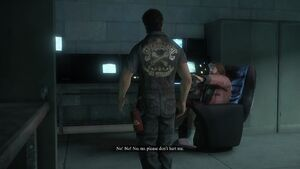 Theodore begging Nick not to hurt him