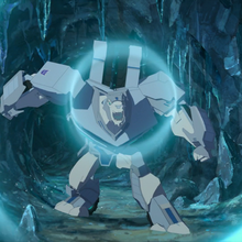 Polarclaw using his sonic roar.png