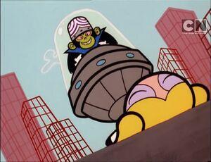 Mojo Jojo taunting Bubbles