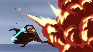 Skywalker explosion pose