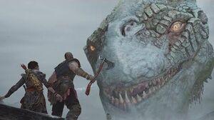 God Of War 4 - The World Serpent Encounter Scene