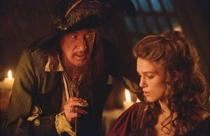 Keira knightley pirates of the caribbean geoffrey rush captain hector barbossa elizabeth swann 28 www.wallpaperno.com 36