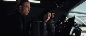 Kylo and Hux inside the shuttle