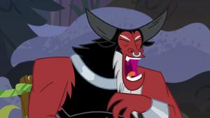 Lord Tirek laughing at Chrysalis S9E8