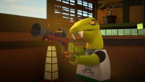 Clancee with Gun