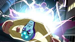 Flash defeats Brainiac-Luthor
