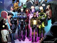 Ezekiel Stane with other supervillains