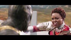 Black Panther 2018 Shuri & Nakia vs Killmonger 'Final Battle'