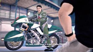 Leon Bell on his motorbike