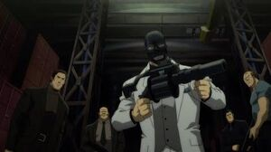 Nightwing and Robin pull up on Black Mask gang Batman Bad Blood