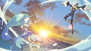 Cure Mermaid (Princess of the Sea) vs. Shut (Opening)