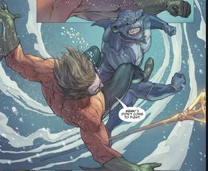 King Shark vs Aqauman
