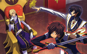 CODE.GEASS Lelouch, Schneizel and Suzaku