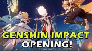 Genshin Impact CBT2 Opening Cutscene!