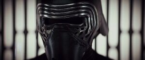 Kylo masked in the elevator