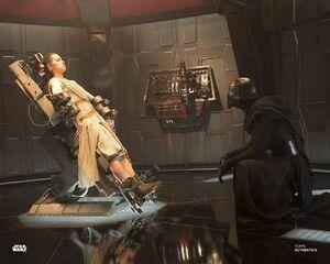 Kylo watches Rey