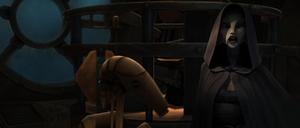 Ventress questions droid