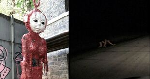 Cursed-images-such-as-a-melted-teletubby-doll