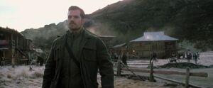 Walker at a Village
